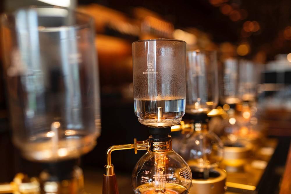 Métodos de preparación de café - Método de filtrado al vacío - Sifón